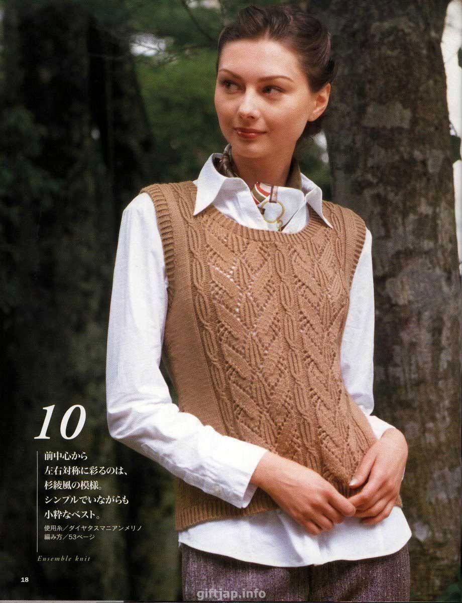 Вязание безрукавки для девушки спицами