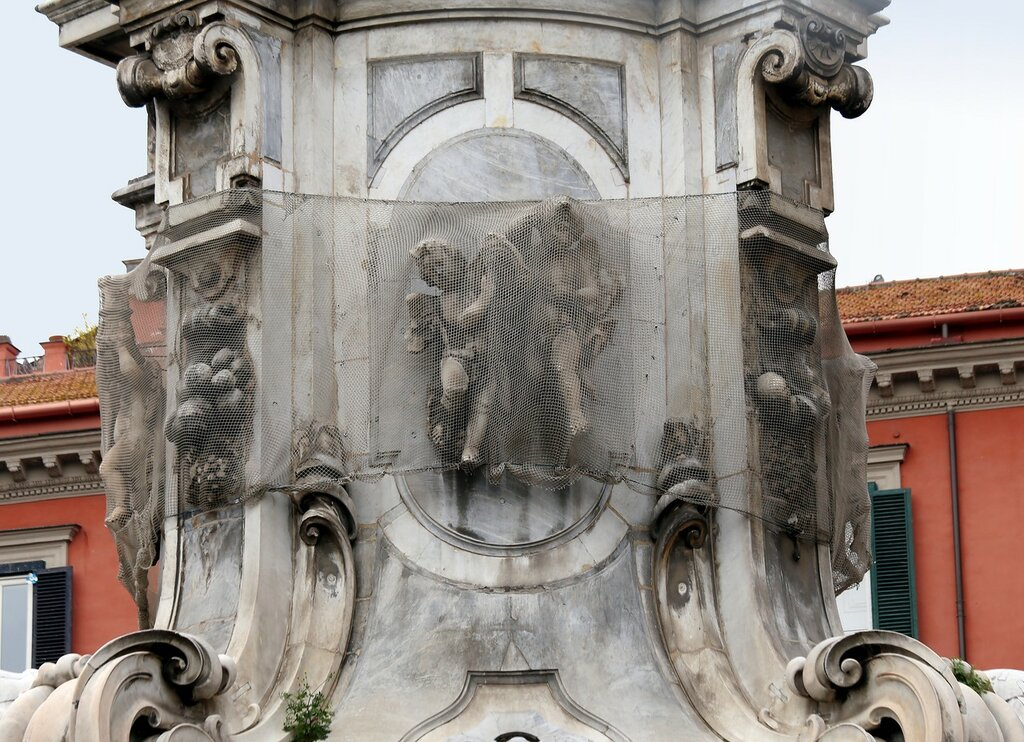 Naples. Obelisk of the Immaculate virgin Mary (Obelisco Dell'immacolata)