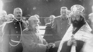 Участники похорон командующего батальоном, военного инженера, генерал-адъютанта Николая I Карла Андреевич Шильдера. На первом плане генерал-адъютант В.Н.Данилов.