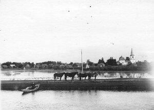 Вид на берег Ладожского канала.