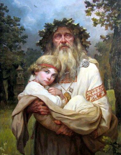 """А.А.Шишкин, """"Наречение имени""""."""
