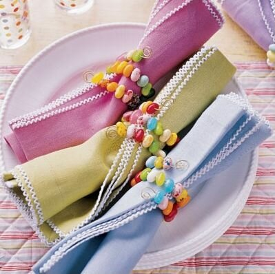 Использование текстиля в пасхальном декоре