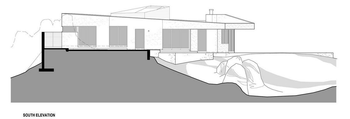 дом с черным фасадом, темный интерьер, темные стены фото, красивый вид из окон, частный дом в Калифорнии, необычный частный дом, схема дома, план дома