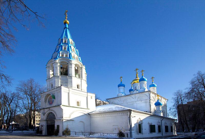 Москва.  Храм Петра и Павла в Солдатской слободе