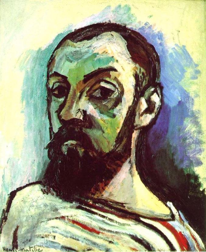 selfie / Self-portrait / Автопортрет в полосатой майке, Анри Матисс / Henri Matisse, 1906