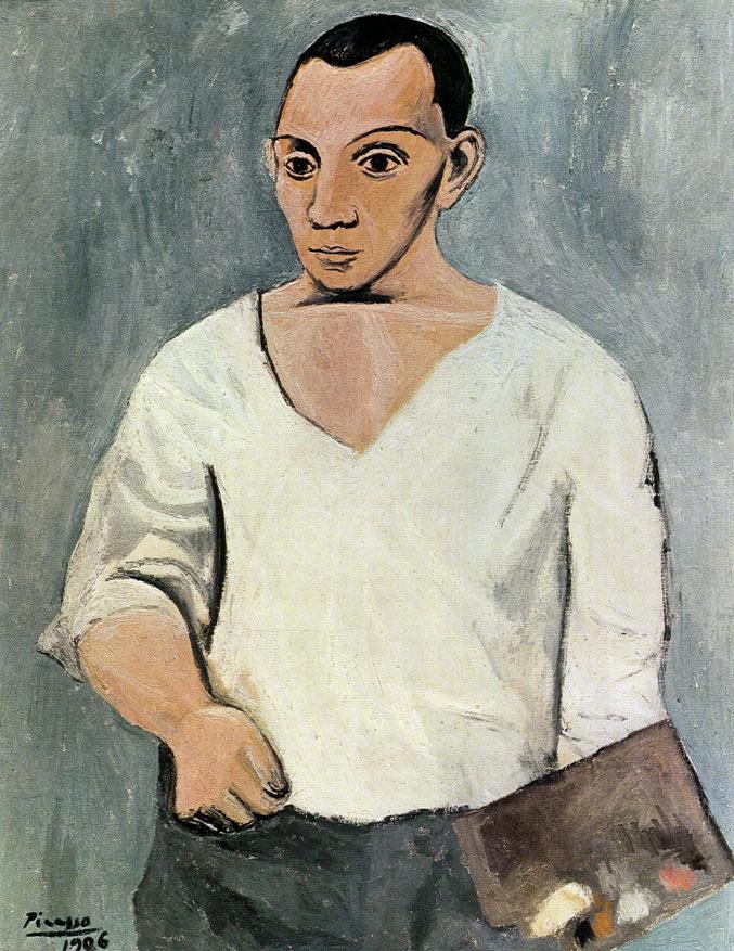 selfie / Self-portrait / Автопортрет с палитрой, Пабло Пикассо / Pablo Picasso, 1906