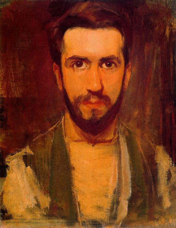 selfie / Self-portrait / Автопортрет, Пит Мондриан / Pieter Mondriaan, 1900