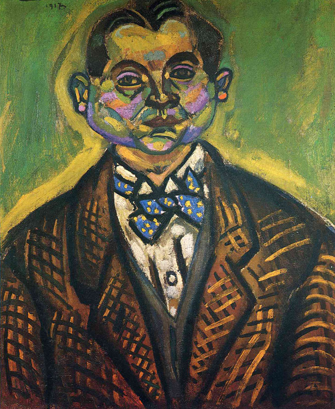 selfie / Self-portrait / Автопортрет, Жоан Миро / Joan Miro, 1917