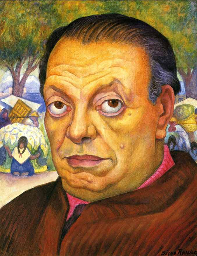 selfie / Self-portrait / Автопортрет, Диего Ривера / Diego Rivera, 1949