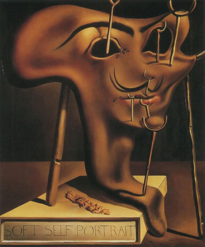 selfie / Self-portrait / Мягкий автопортрет с жареным беконом, Сальвадор Дали / Salvador Dali, 1941