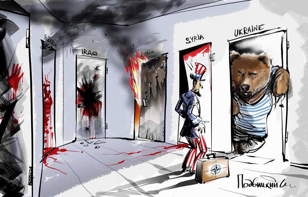 Россия и Украина - Карикатурист Виталий Подвицкий  (13)