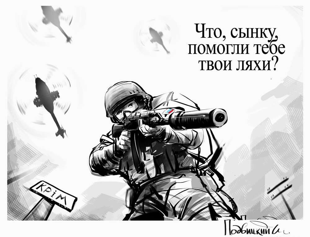 Россия и Украина - Карикатурист Виталий Подвицкий  (21)