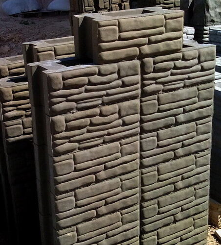 готовые рядовые бетонные блоки