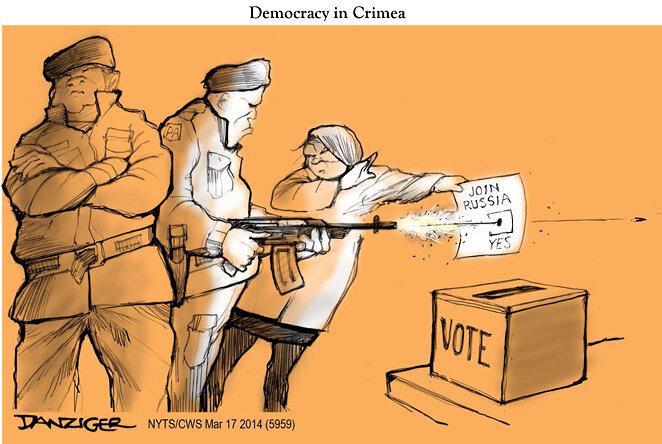 Democracy in Crimea — March 17, 2014 © Jeff Danziger
