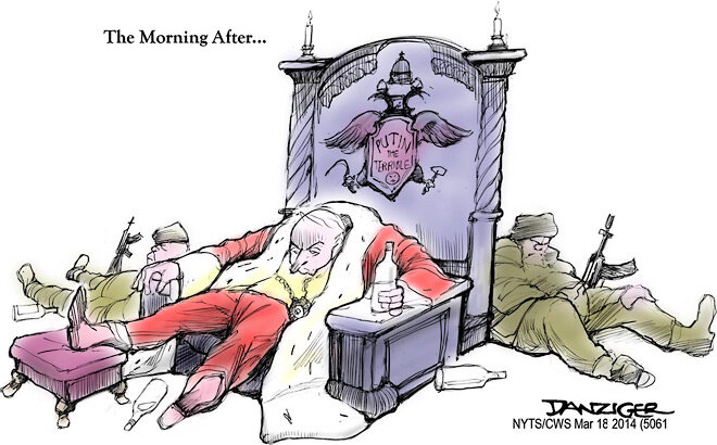 Putin's Morning After — March 18, 2014 © Jeff Danziger