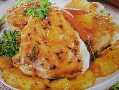 Курица с ананасами под сырной корочкой