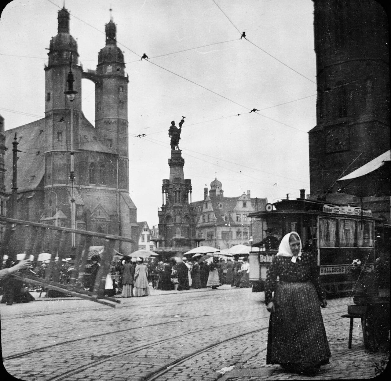 Галле. Рынок, 1902