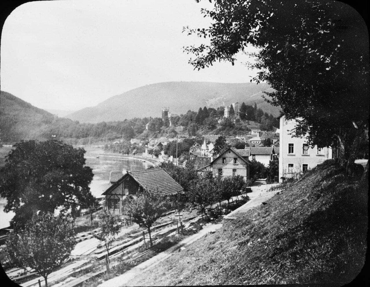 Неккарштайнах и река Неккар. 1907