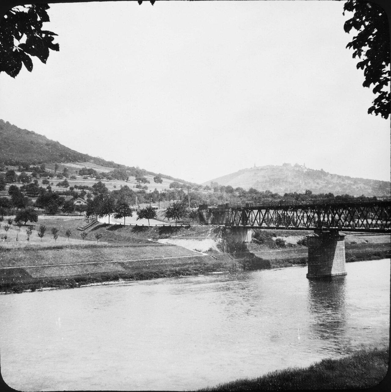 Неккарштайнах. Мост через реку Неккар. 1907