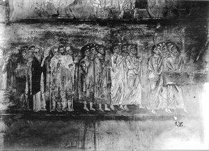 Церковь Спаса на Нередице. Роспись западной стены