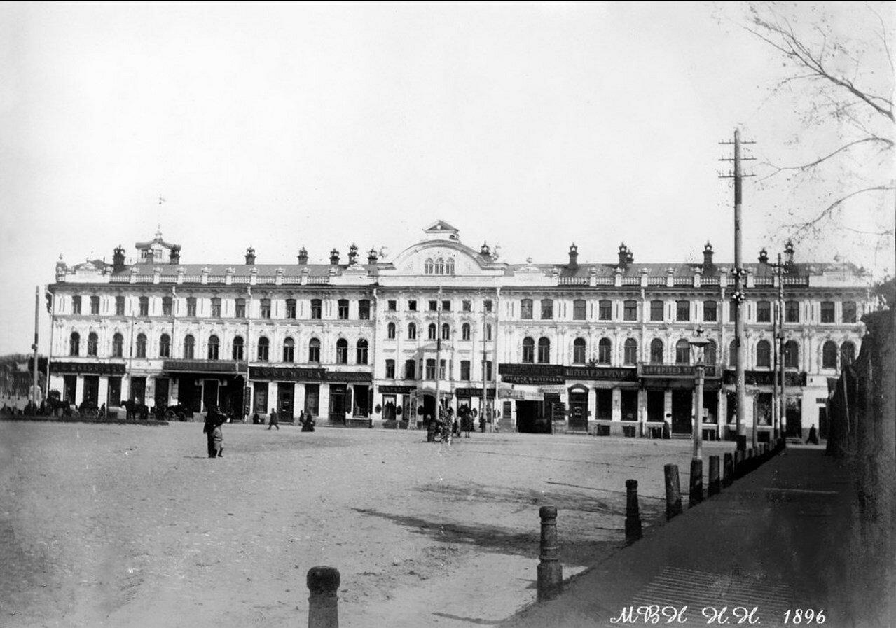 Доходный дом торгового общества Кудряшова и Чеснокова на Большой Покровской. 1896