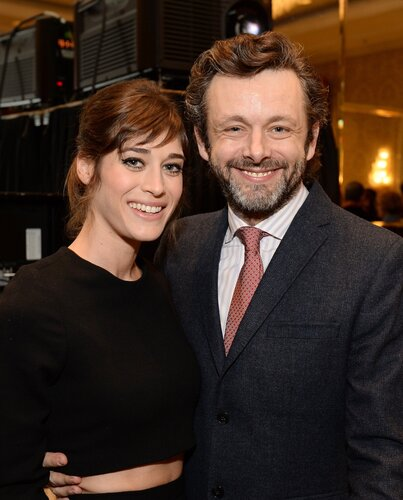 BEVERLY HILLS, CA - JANUARY 10: Actors Lizzy Caplan and Michael Sheen attend the 14th annual AFI Awards Luncheon at the Four Seasons Hotel Beverly Hills on January 10, 2014 in Beverly Hills, California. (Photo by Michael Kovac/Getty Images for AFI)