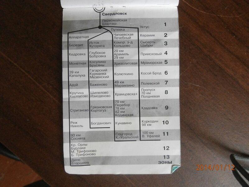 Схема пригородного сообщения (2)