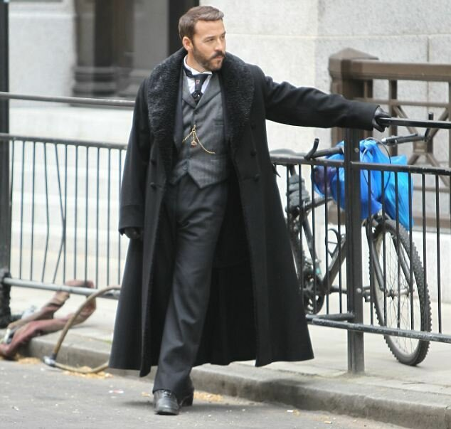 FAMEFLYNET - Stars On Set Of Mr Selfridge Filming In London