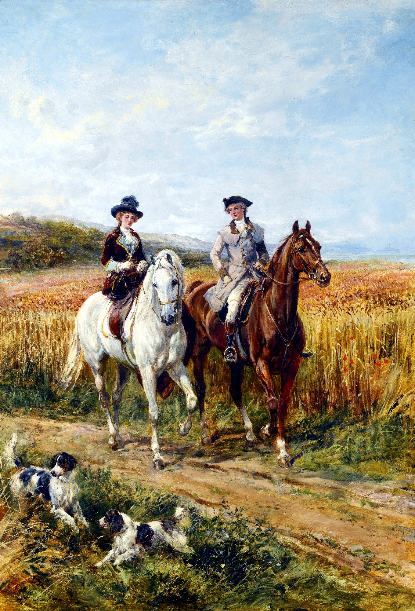 Heywood Hardy (1842-1933) - THE MORNING RIDE