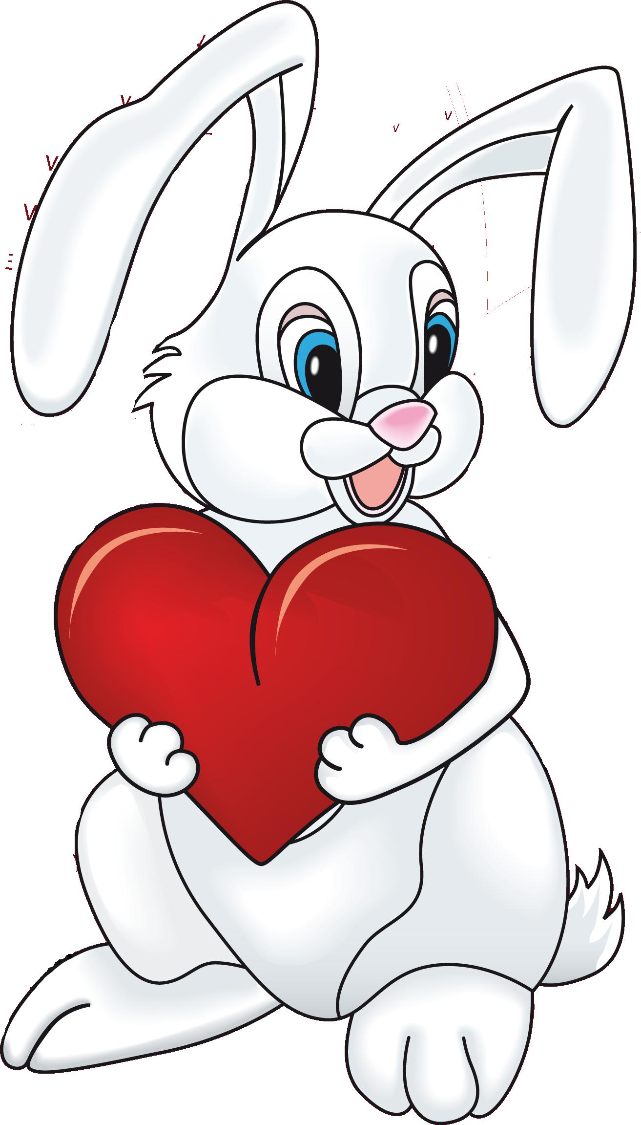 Картинки зайчик в сердечке