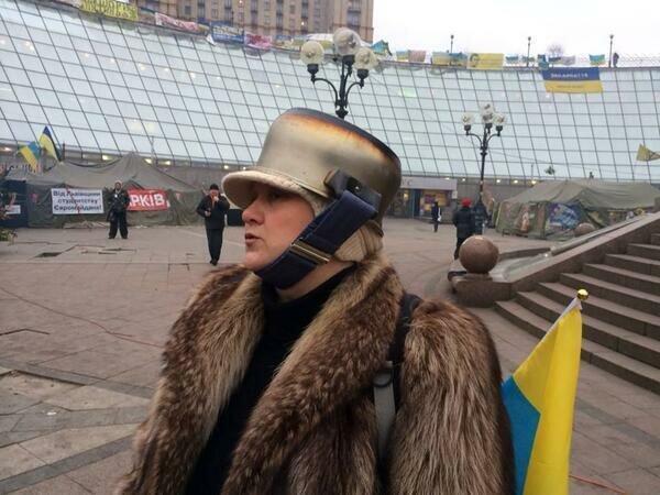 Бравые защитники Евромайдана