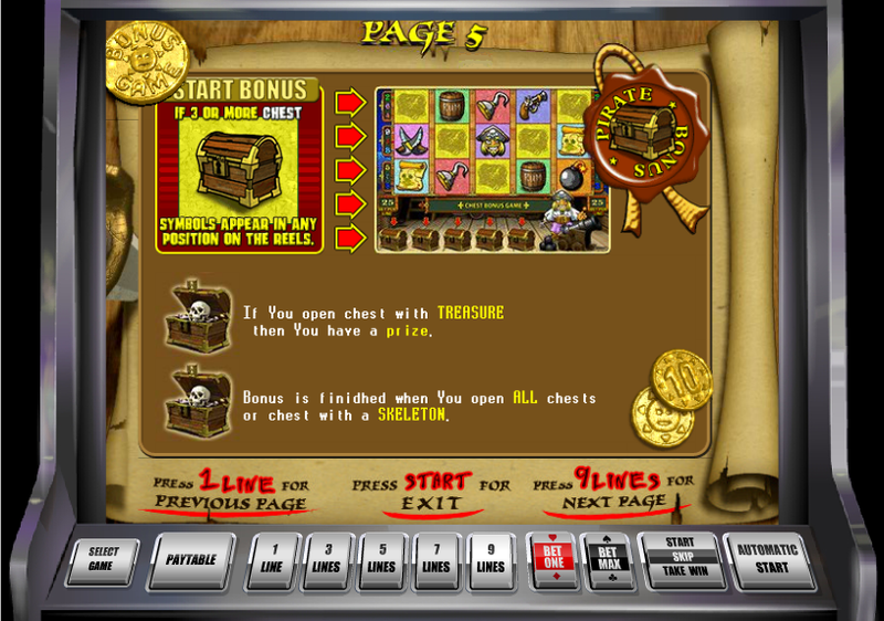 pirate slot treasure bonus