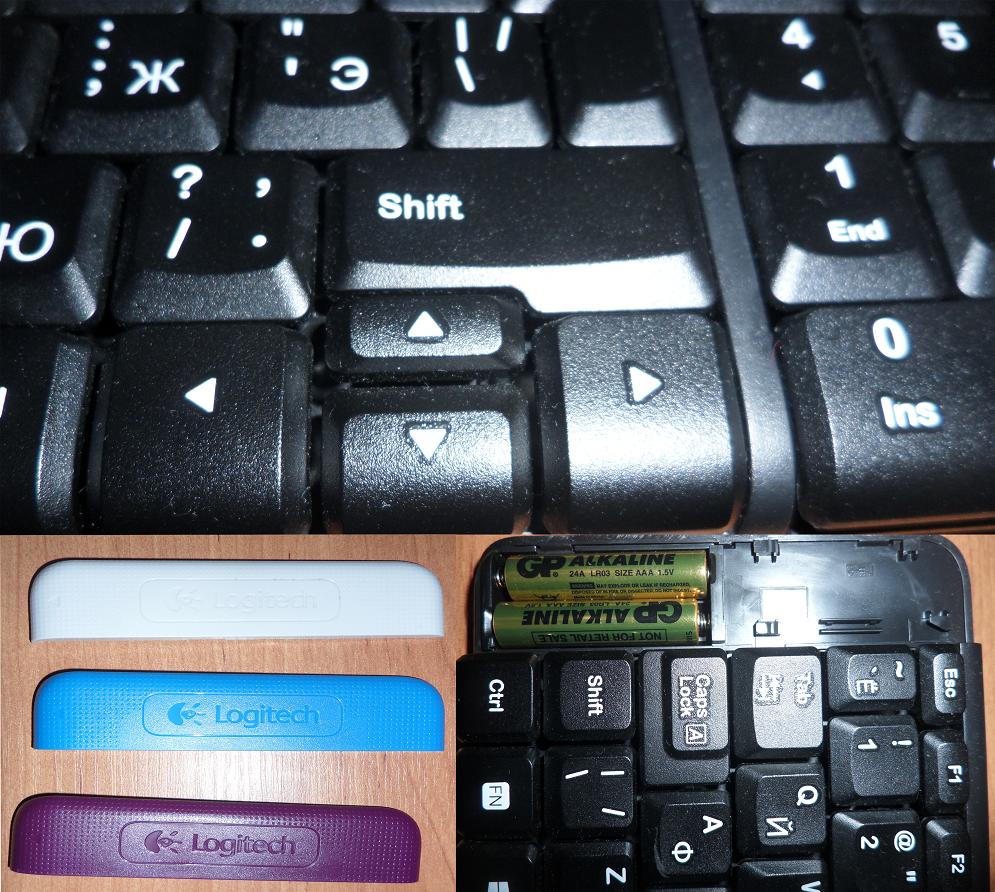 Вид клавиатуры