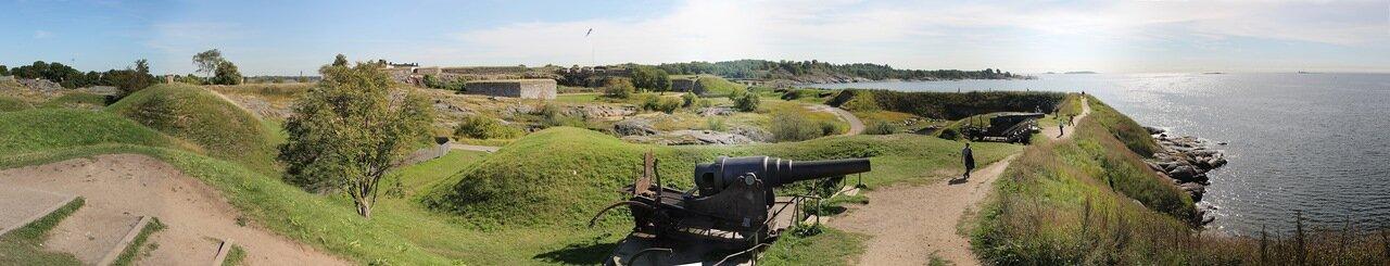 Крепость Суоменлинна. Береговая батарея Кустаанмиекка. panorama