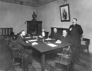 Заседание правления Московского Купеческого банка.