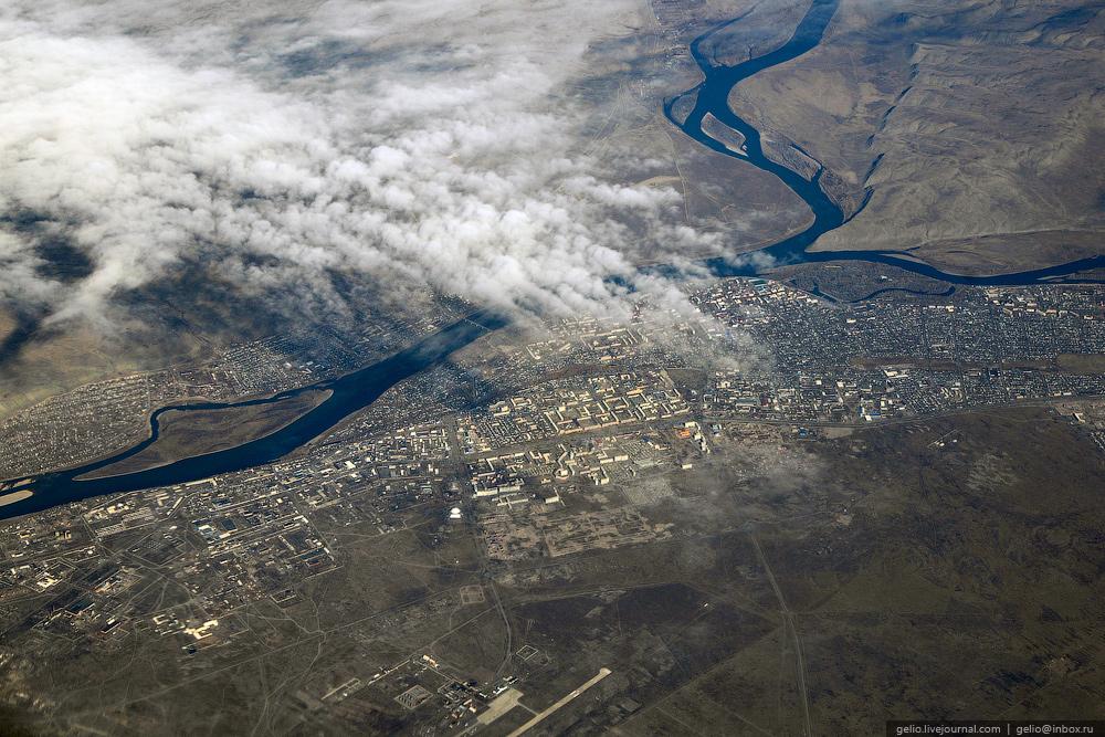 Кызыл. Фотографии из окна самолета