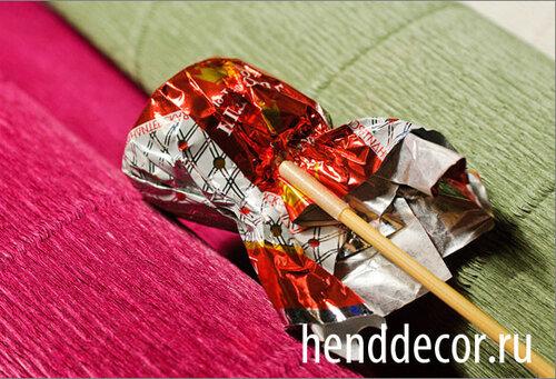 Букет конфет крокусы