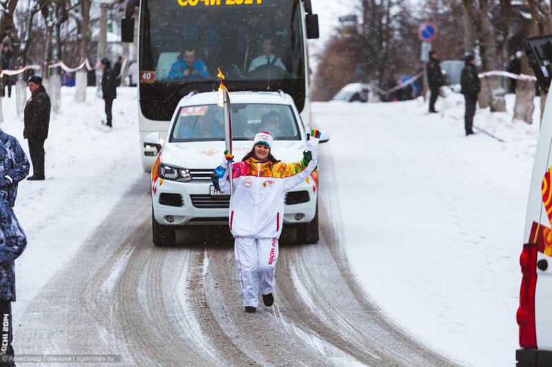 Олимпийский огонь в Кирове