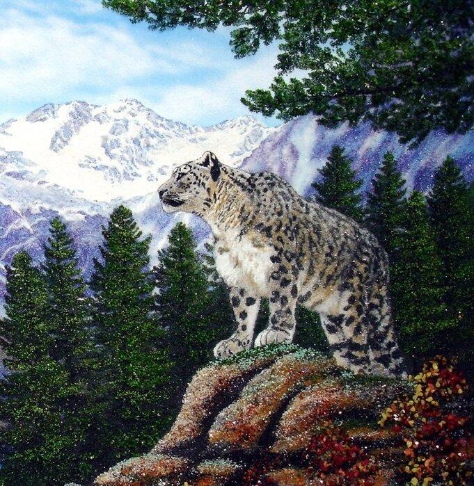 Удивительные картины Алексея Мосмана из каменной крошки
