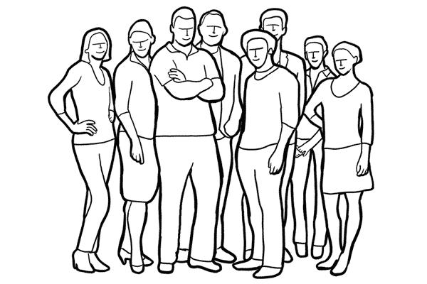 Позирование: позы для групповых портретов 2