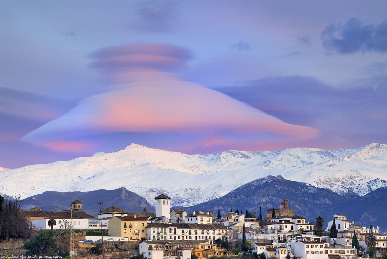 Cloud over the mountains of Sierra Nevada, Spain