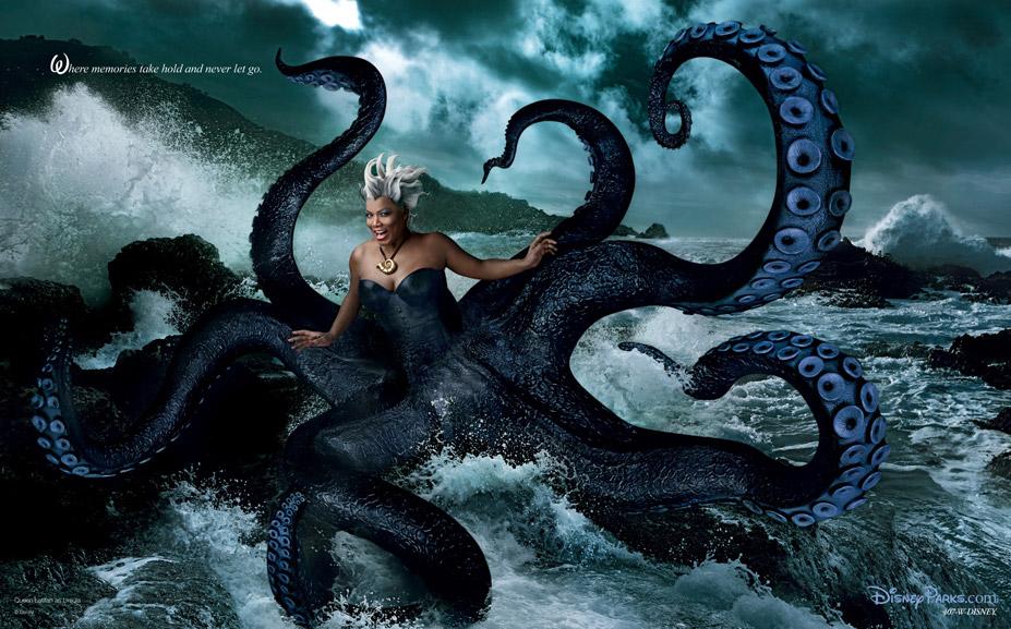 Disney's Year of a Million Dreams by Annie Leibovitz - Queen Latifah as Ursula / Куин Латифа в образе морской ведьмы Урсулы