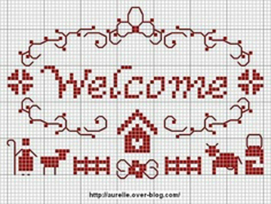 Схема для вышивания добро пожаловать