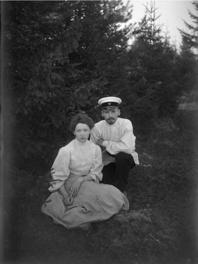 В.А. Зевеке с женой Л.Д. Зевеке