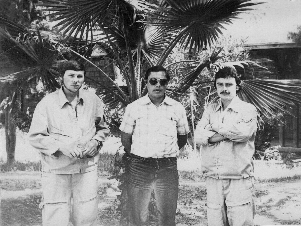 1980. Сирия. Букатин, летчик Су и Рыжов.