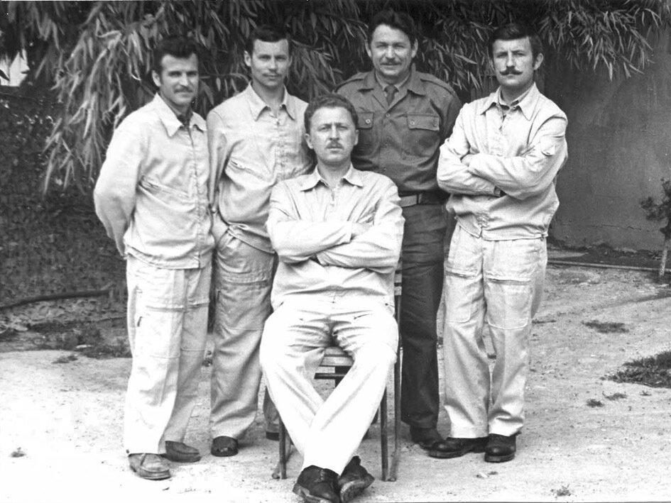 1977-1978. Сирия. Чарвенец, Кухарь, врач, Калитеня, Меньшков