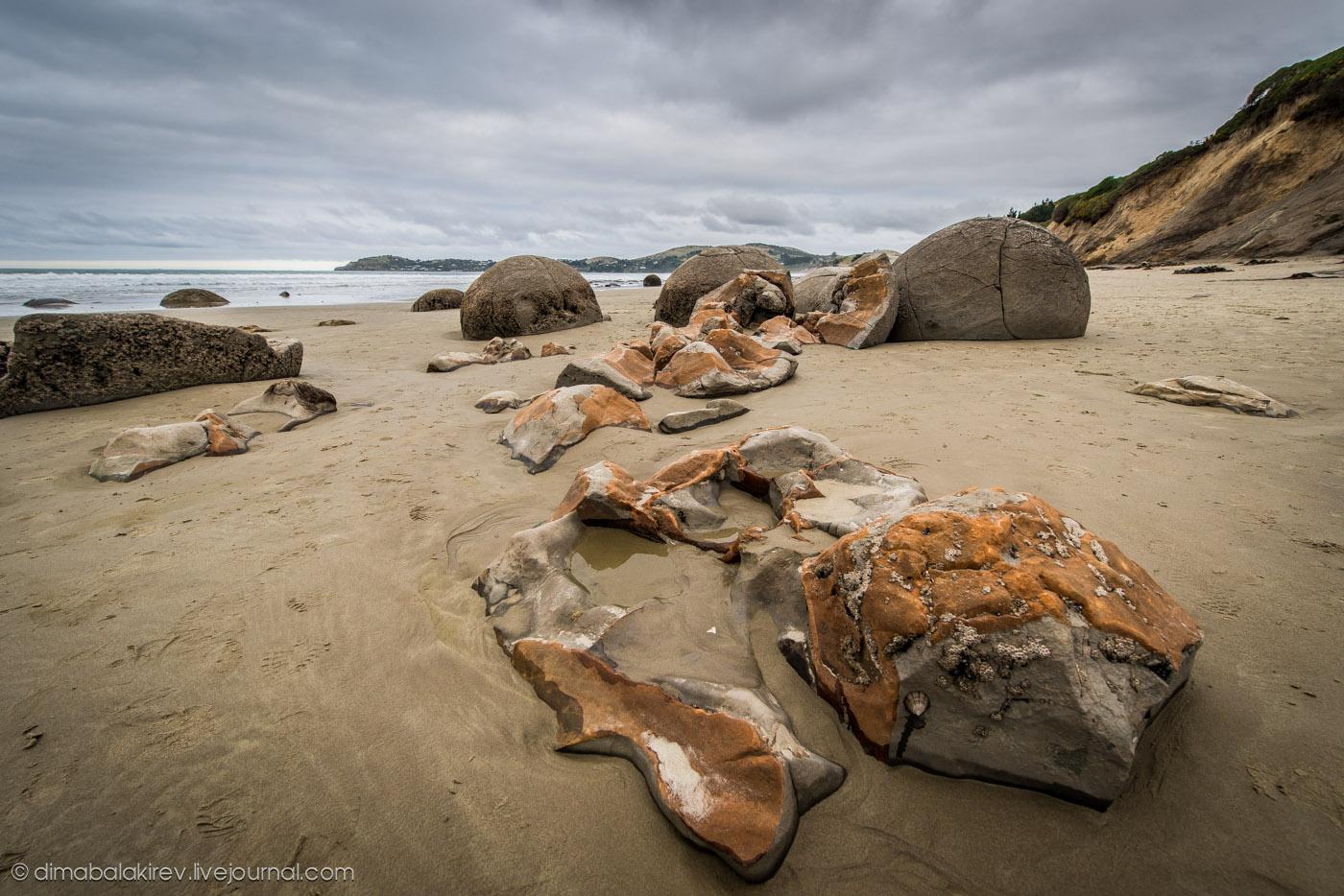 Таинственные волуны Моераки. Новая Зеландия.