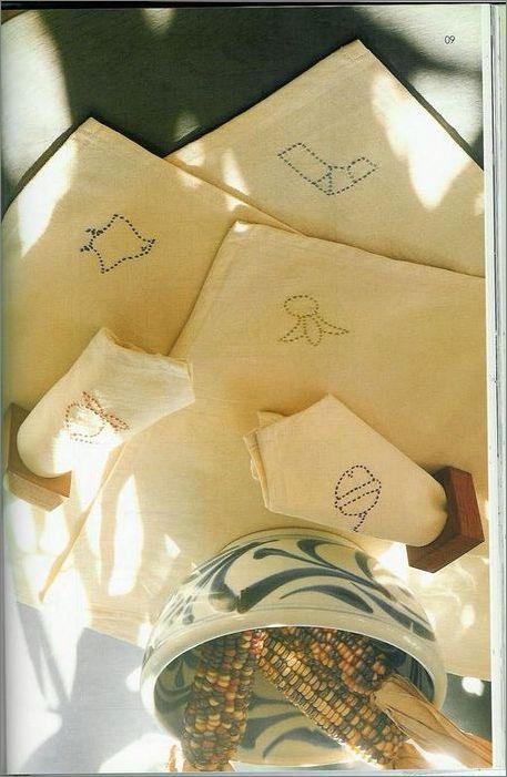 схемы вышивки сашико
