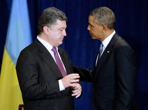 Обама и Порошенко в Польше, 5 июня 2014