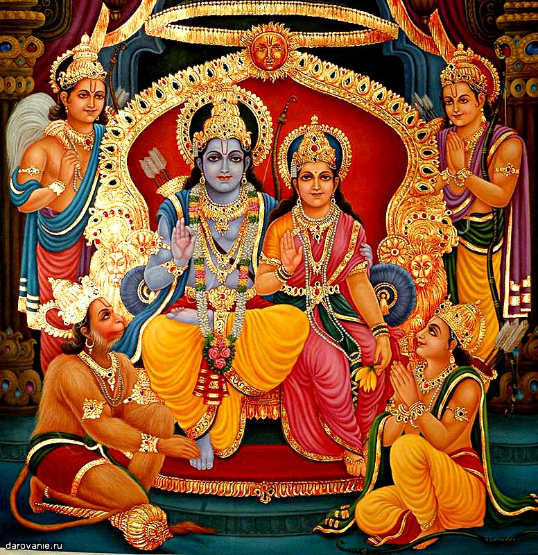 Индийская живопись. Герои эпоса